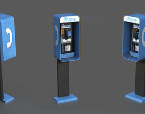 Pay Phone 3D model realtime
