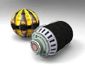 Sci-Fi Grenade 3D asset VR / AR ready