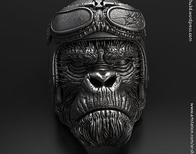 Biker Monkey vol1 ring 3D printable model