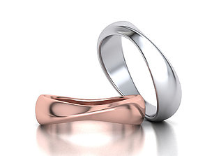 3D print model Mobius Wedding Ring 5 and half mm wide band