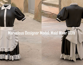 Marvelous Designer Model Maid Wear 001a 3D