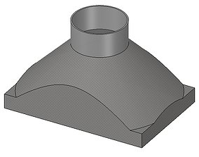 exhaust hood suction nozzle from an 3D print model 2