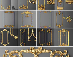 Collection stucco molding frame 1 3D model