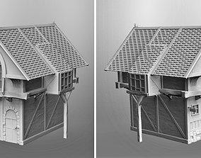 village Medieval house 3D printable model