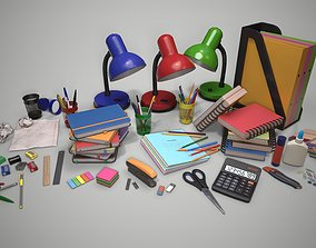 Stationery 3D model VR / AR ready