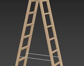 Wooden Stepladder 3D asset realtime