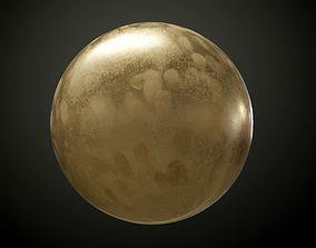 3D Metal Dirty Bronze PBR Texture