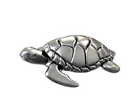 Turtle sea 3d print model
