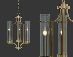 Milan Collection 3 Light Vintage Gold 3D model