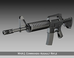 Colt M4 Commando Assault rifle 3D commando