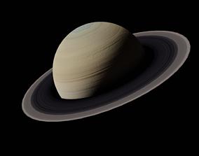 Saturn 3D asset game-ready