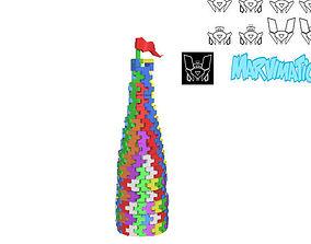 3D model Soft Blocks Tower