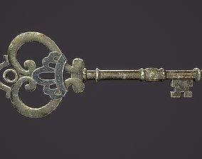 3D asset Medieval Skeleton Key 3