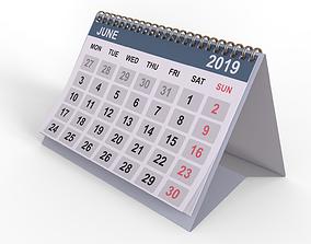 Desk calendar 3D