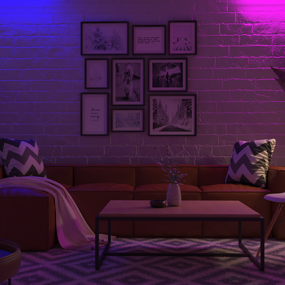 Living room night time
