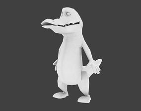 alligator cartoon made blender 3D model
