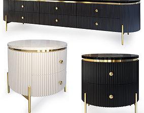 Sideboard nightstand Art Deco 3D