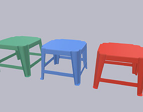 Plastic Small Table 3D model