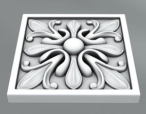 3D Square decoration classical
