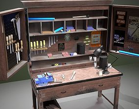 3D model low-poly WorkBench