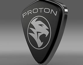 3D model Proton logo