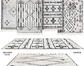 Scandinavian rugs set 3D model