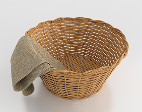 Wicker Basket 3D asset