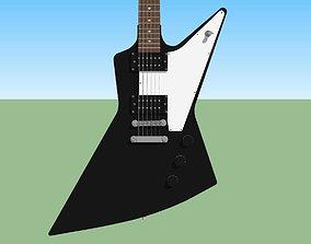 Guitar - Gibson Explorer - Black Finish 3D