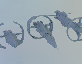 3D Ships Sisters of EVE SOE