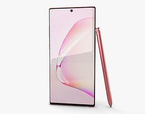 3D model Samsung Galaxy Note10 Aura Pink
