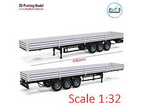 3D printable model Trailer 1-32 Scale