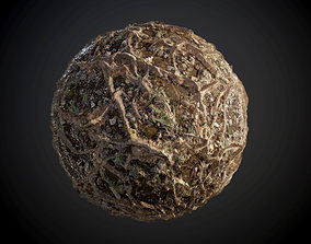 3D model Tree Roots Leaves Seamless PBR Texture