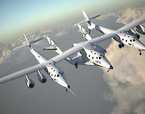3D model Virgin Galactic Shuttle