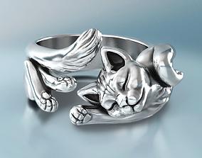 Lazy Cat Ring 3D print model