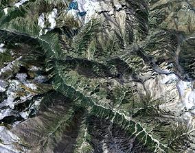 highlands Mountain landscape 3D model