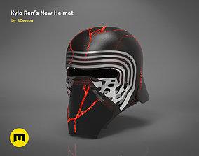 3D printable model The Kylo Ren helmet destroyed - Star