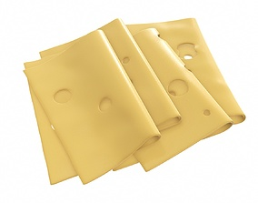3D Cheese slices