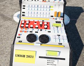 3D model Leviathan Industry DJ Mixing Console LMI6H Static