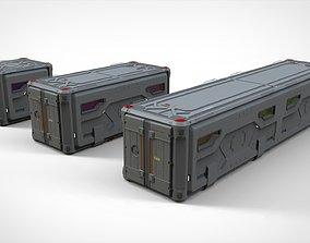 3D sci fi Cargo Container 2