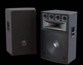 Black Loudspeaker 3D