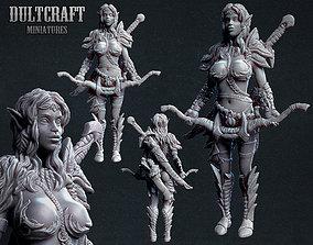 3D print model miniatures Elf woman warrior