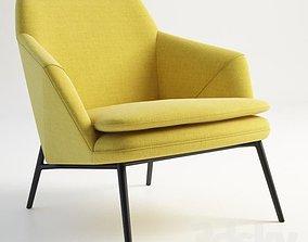yellow armchair 3D