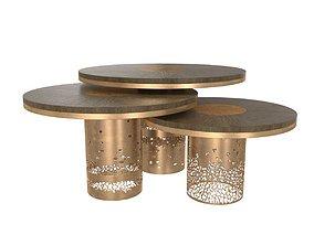 Round alem luxury handmade coffee table deniz tunc 3D