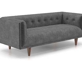 Cirrus pacific blue sofa 3D