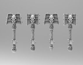 3D printable model Wolf Priest Rods of Office