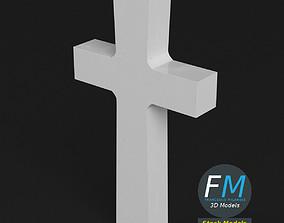 3D War memorial gravestone - Cross