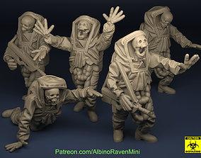 3D printable model Zombie set