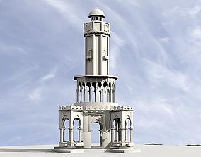 3D model Izmir Clock Tower