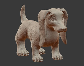 little 3D printable model Dachshund