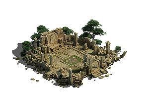 3D Model - Kashayana Buddha Forest Law Hall altar